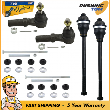 6Pc Front Inner Outer Tie Rod Sway Bar Link Kit for Chevy Silverado 2500Hd 3500