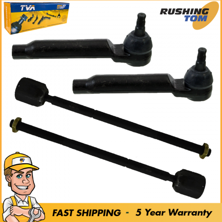 4 Inner Outer Tie Rod for Ford Mercury Steering 2 Year Warranty