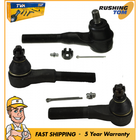 3Pc Kit Outer Tie Rod for Jeep Grand Cherokee Comanche Wrangler TJ