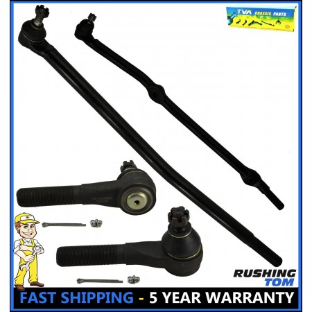 Front Tie Rod Drag Link Sleeve Steering Kit for 1993-1998 Jeep Grand Cherokee V8