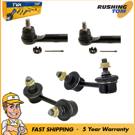 4Pc Outer Tie Rod Ends & Links Kit For 2000-2003 Nissan Maxima 2002-2004 I35