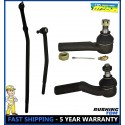 4 Pc Steering Inner & Outer Tie Rod End Drag Link 98-07 Ford E250 E350 Econoline
