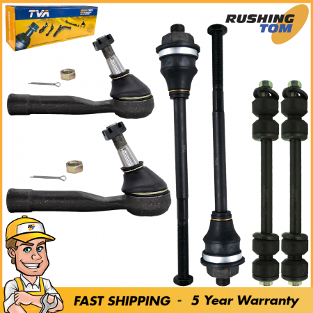 6Pc Suspension Steering 2 Sway Bars 2 Inner 2 Outer Tie Rod fits Chevrolet GMC