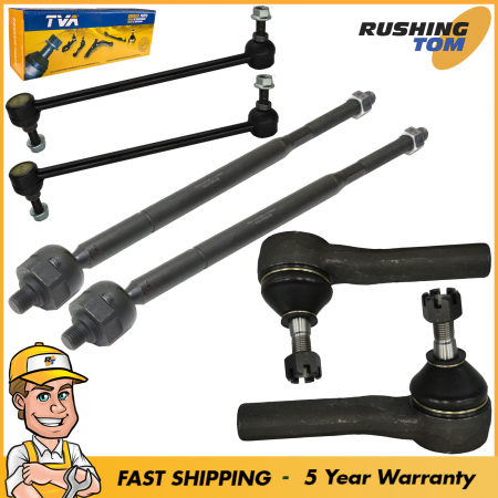 6Pc Suspension Kit Inner & Outer Tie Rod & Sway Bars for Chrysler Pacifica