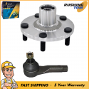 2Pc Kit Front Wheel Hub & Bearing No ABS & Outer Tie Rod for Altima