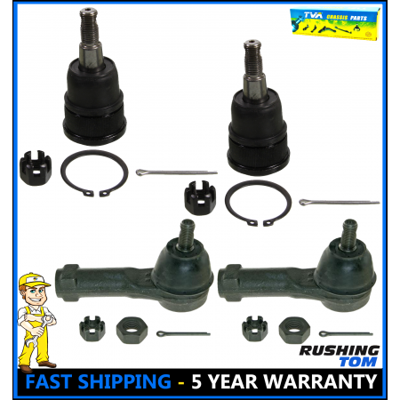Front Lower Ball Joint & Outer Tie Rod Kit 4Pc fits Honda Odyssey 1999-2004