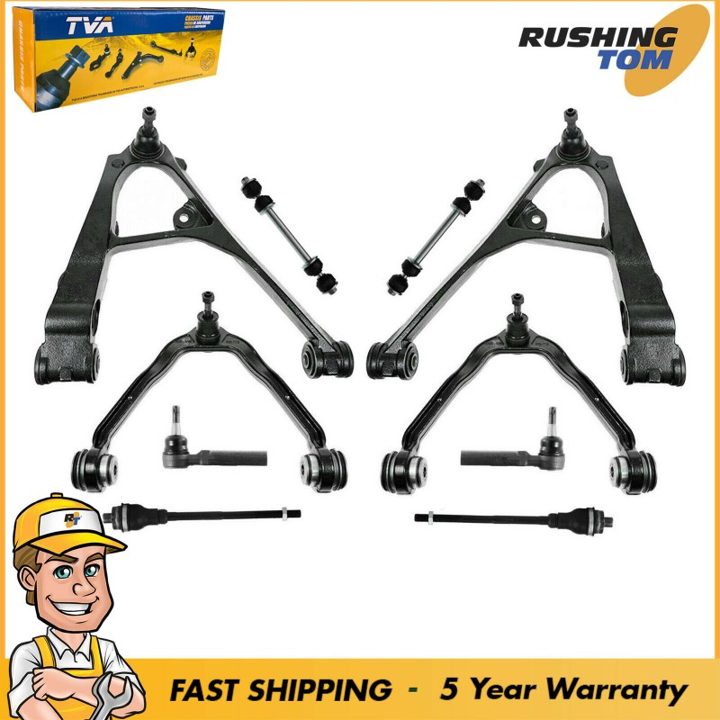 10Pc Complete Suspension Kit For Cadillac Escalade Chevrolet Silverado GMC Yukon